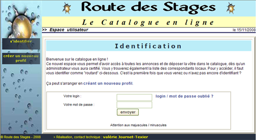 Le catalogue en ligne